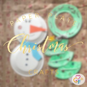 Paper Plate Christmas Crafts!